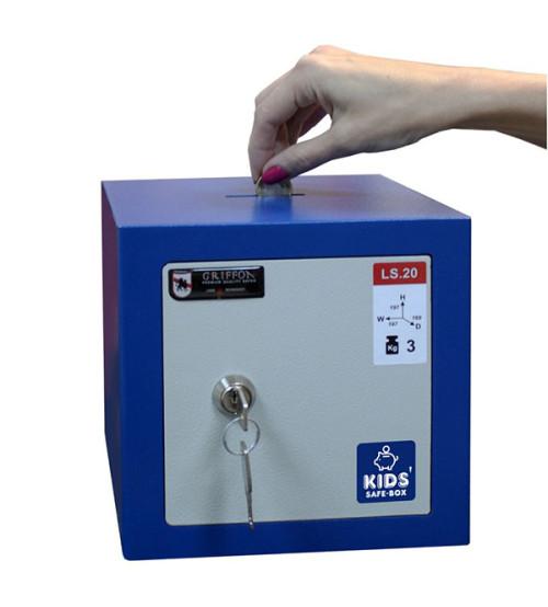 Детский сейф-копилка LS.20.K blue GRIFFON