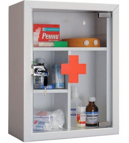 Медицинский шкаф-аптечка HILFE AMD-39G