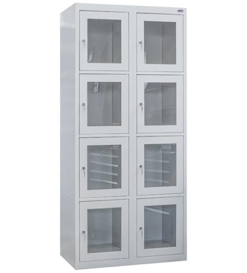 Ячеечный шкаф с акриловыми дверьми ШО 400/2-8А