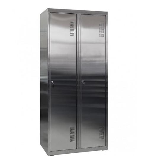 Шкаф для переодевания из нержавеющей стали ШОМНж-400/2