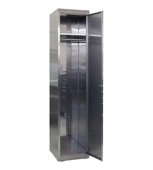 Шкаф для переодевания из нержавеющей стали ШОМНж-400/1